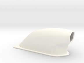 1/25 Small Pro Mod Hood Scoop in White Strong & Flexible Polished