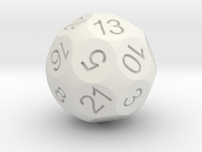 D24 Sphere Dice in White Natural Versatile Plastic