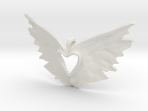 variation on the heart takes flight in White Natural Versatile Plastic