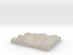 Model of Le Villard in Sandstone
