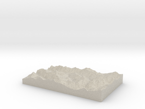 Model of Le Villard in Sandstone