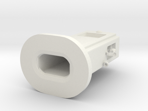 Gas Pump 1-43 in White Natural Versatile Plastic