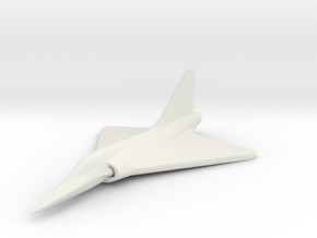 1/285 (6mm) Mirage-2000  in White Natural Versatile Plastic