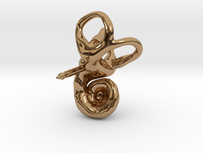 Inner Ear (Cochlea) Lapel Pin in Polished Brass