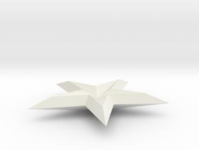 FINAL SHAPEWAYS 3D STAR in White Natural Versatile Plastic