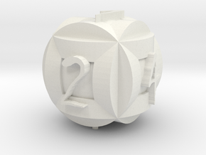 Circle Die 2 in White Natural Versatile Plastic