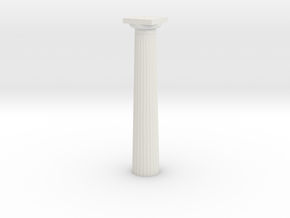 17.5cm doric Column in White Natural Versatile Plastic
