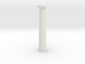 17.5cm doric Column in White Strong & Flexible