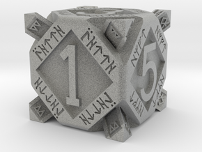 Dwarf dice in Metallic Plastic