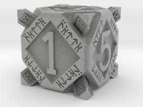 Dwarf dice in Metallic Plastic