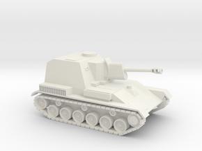 SU-76 1/87 scale Soviet SPG in White Natural Versatile Plastic
