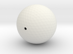Golf ball hollow in White Natural Versatile Plastic