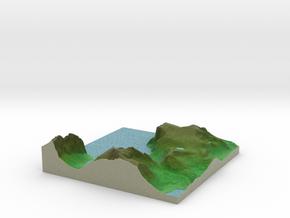 Terrafab generated model Mon Dec 09 2013 11:13:01  in Full Color Sandstone