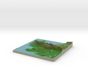 Terrafab generated model Mon Dec 09 2013 11:39:02  in Full Color Sandstone