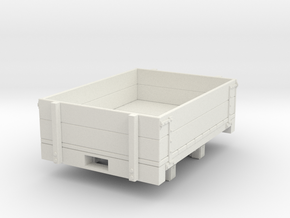 Gn15 Dropside wagon (short) in White Natural Versatile Plastic