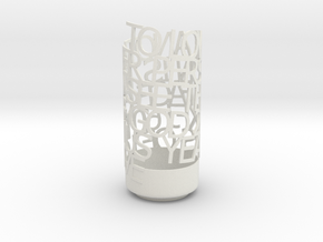 Light Poem - 60TH ANNIVERSARY OPTION 3 in White Natural Versatile Plastic