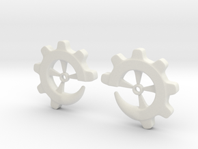 Gear-ring 0g in White Natural Versatile Plastic