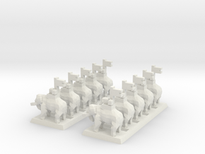 2mm Elephant (x10) in White Natural Versatile Plastic