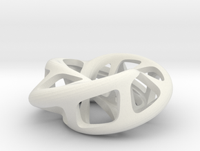 Moebius torus 3-sided in White Natural Versatile Plastic