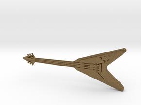 Flying V Guitar Pendant in Natural Bronze