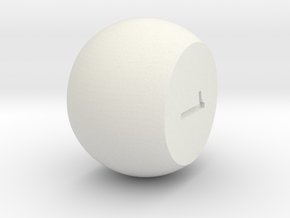 Prime 2(Solid) in White Natural Versatile Plastic