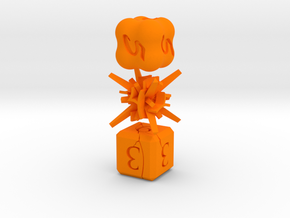 Elemental NonTransitive Dice in Orange Strong & Flexible Polished