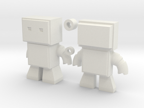 Robot Snap Mini Kit Model in White Natural Versatile Plastic