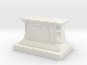 25x55mm Display Pedestal in White Natural Versatile Plastic
