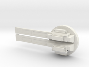 Rail Gun in White Natural Versatile Plastic