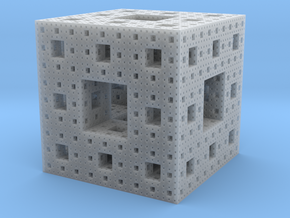 Menger Sponge, 3cm in Smooth Fine Detail Plastic