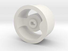 MiniZ AWD Wide Rims in White Natural Versatile Plastic