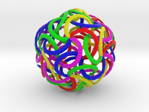 Kenar Curves Sphere in Full Color Sandstone