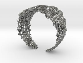 Fractal Snowflake Bracelet  in Fine Detail Polished Silver