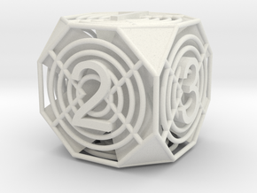 Hex Die in White Strong & Flexible