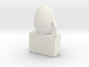 Humpty Dumpty in White Natural Versatile Plastic