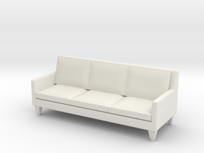 1:24 Contemporary Sofa in White Natural Versatile Plastic