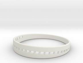 BraceletX 70mm in White Natural Versatile Plastic
