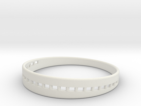 BraceletX 60mm in White Natural Versatile Plastic