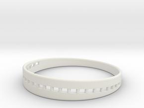 BraceletX 60mm in White Natural Versatile Plastic