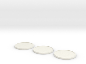 Round Model Base 45mm X3 in White Natural Versatile Plastic