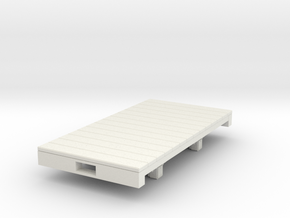 Gn15 flat wagon (long)  in White Natural Versatile Plastic