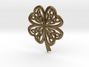 Celtic Shamrock in Natural Bronze