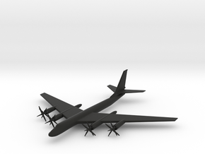 1/285 (6mm) TU-95 Bear Bomber in Black Strong & Flexible
