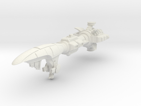 Retribution Battlecruiser in White Natural Versatile Plastic
