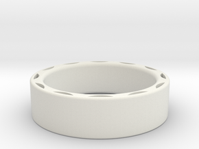 Ring - 15mm interior in White Natural Versatile Plastic