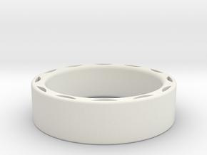 Ring - 15mm interior in White Natural Versatile Plastic