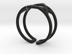 Star Of David Ring in Black Natural Versatile Plastic