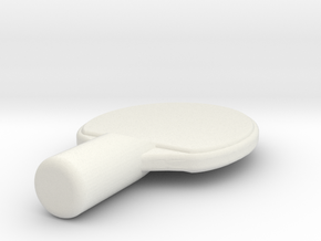PingPongPaddle2 in White Natural Versatile Plastic