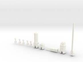 Sunlink - 3mm Weapons Pack #1 in White Strong & Flexible Polished