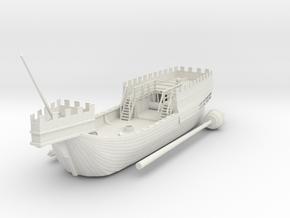 Medieval Heavy Kogge in White Natural Versatile Plastic